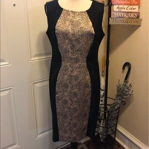 Gold & Black Dress 12P. Cute Little Black Dress!